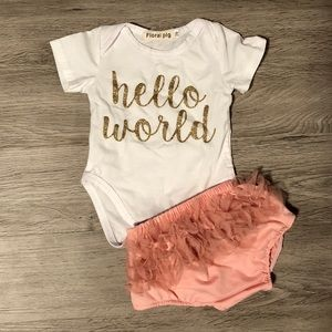 Other - Hello World Baby Girl Outfit